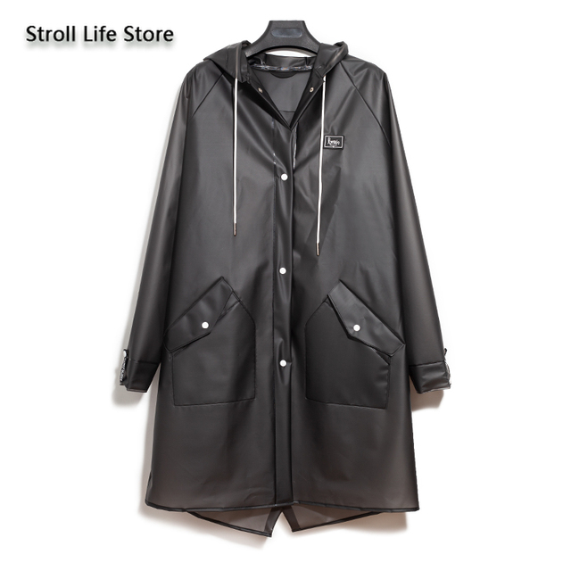 Transparent Long Raincoat Waterproof Clear Jacket Riding Hiking Outdoor Rain Coat Protection Travel Bicycle Rain Poncho Gift 5
