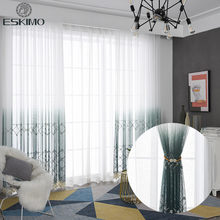 ESKIMO High-end Luxury Tulle Curtains for Living Room Bedroom Kitchen Exquisite Workmanship Window Curtains Sheer Curtains(China)