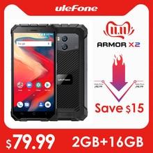 """Ulefone 鎧 X2 防水 IP68 3 3g スマートフォン 5.5 """"HD クアッドコアアンドロイド 8.1 2 ギガバイト + 16 ギガバイト NFC 顔 Id 5500 12000mah デュアルカム携帯電話"""