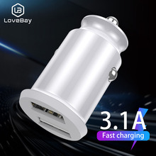 Lovebay Usb Car Charger Mini Dual Usb For Mobile Phone Table