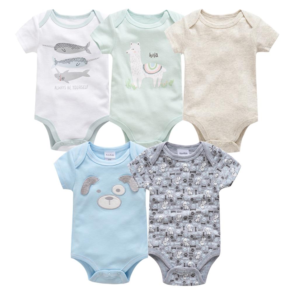 Bodysuit 2019 Summer Baby Girl Boy Clothes Short Sleeve 0-12M Baby Girl Body Bebe 100%Cotton Baby Body Suit Vetement Bebe 5PCS