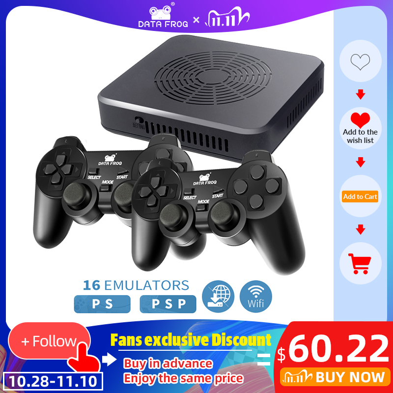 DATA FROG WIFI Video Game Console Support 4 Player Built-in 3000 games 100 3D games For PS1 PSP Retro Game Console Support HDMI