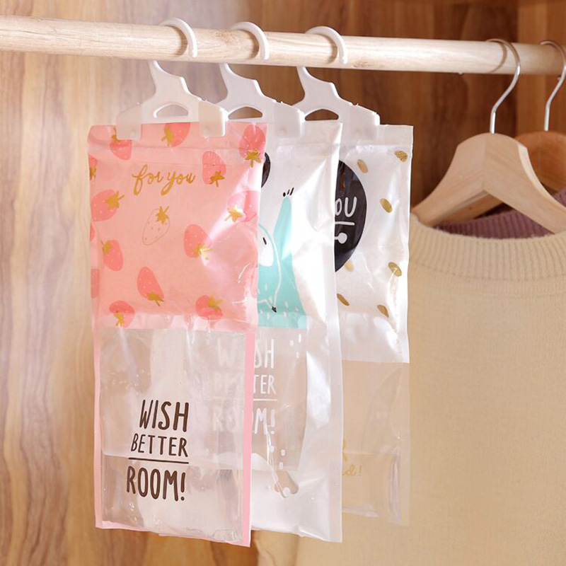 Reusable Desiccant Dehumidifier Bag Moisture Absorption Cabinet Hangable Cartoon Wardrobe Moisture-proof Household Item Gadgets