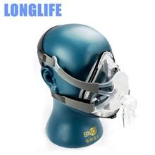 Longlife F1A Full Face Mask External Diameter 22mm CPAP Auto CPAP Ventilator Respirator Snoring Sleep Apnea W/ Headgear Clips