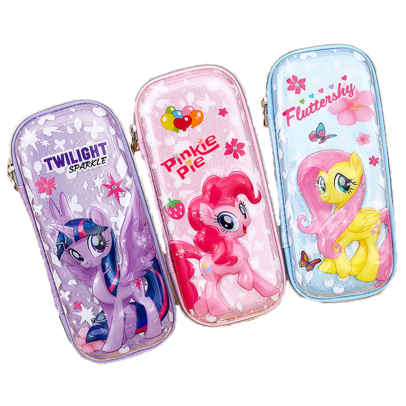 <font><b>Kawaii</b></font> Little Pony <font><b>Pencil</b></font> <font><b>Case</b></font> Cute 3D unicorn Pinkie Pie Pencilcase Box Bag for Girls <font><b>Big</b></font> Stationery <font><b>School</b></font> Supplies Gift image