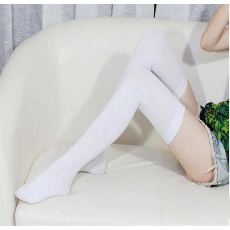 Womens Girls Fashion Opaque Over Knee Thigh High Elastic Socks New Z908