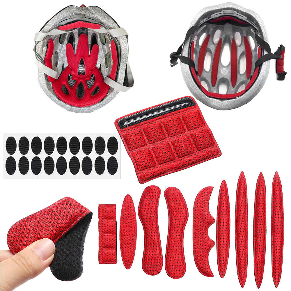 Helmet Padding Kit Sponge Pad Bike Motorcycle Replacement Pads with Insect Net/_