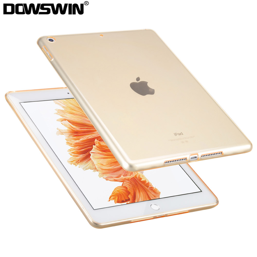For ipad 9.7 2018 2017 Case TPU Transparent Soft Protective Cover Funda For ipad 6th Generation Case A1893/A1822/A1823/A1954