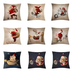 Cartoon Santa Claus Cushion Cover Cute Creative Christmas Santa Claus Decorative Pillowcase Christmas Throw Pillow Case Cushion
