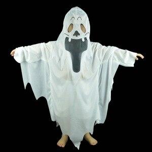 Image 4 - Disfraces de fiesta de Halloween de umarden, disfraz de fantasma blanco escalofriante a juego para Familia, traje de Cosplay para niños y adultos