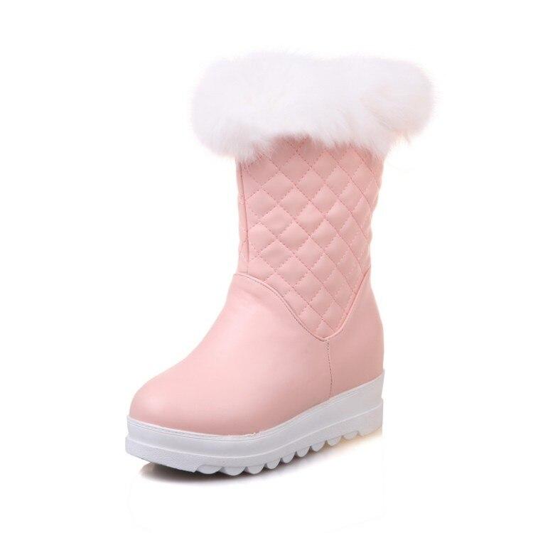 2020 nova moda sapatos femininos adultos cabeça redonda cabelo de cordeiro grosso e confortável all-match antiderrapante resistente ao desgaste e quente 6-12