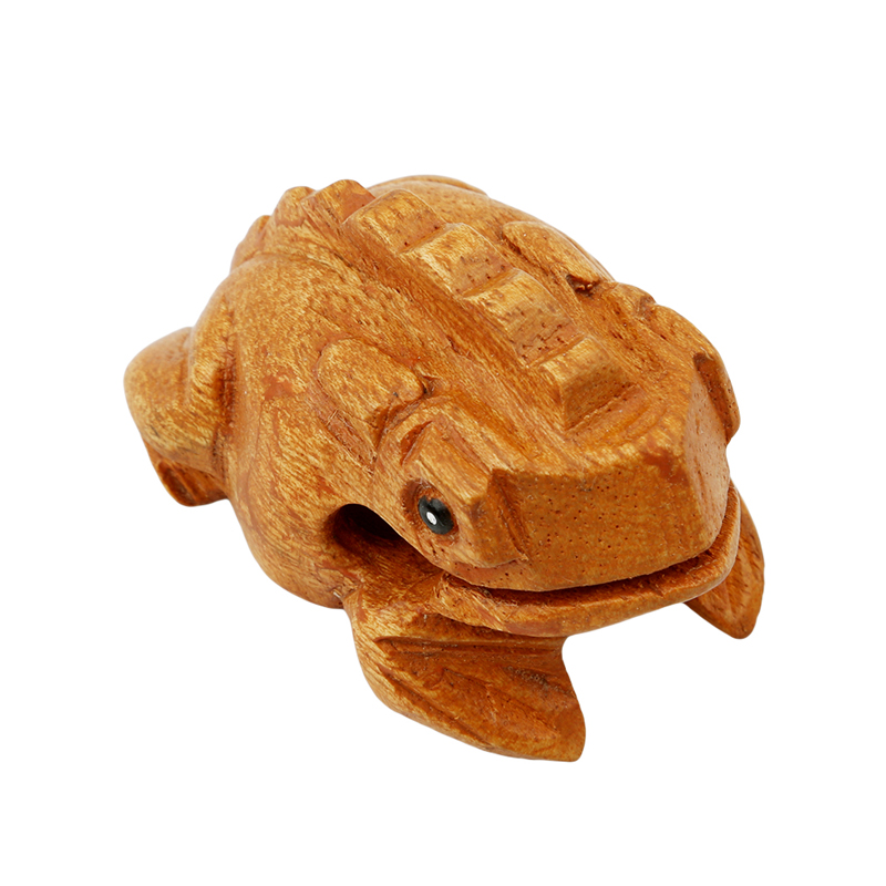 Wood Color Frog Decompression Toys 2020 High Quality Wooden Cute Children Model Toys Funny Kid Toy New Products enlarge