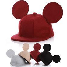 Милая Детская кепка с ушками Микки Мауса, детская бейсболка, бейсболка для маленьких мальчиков и девочек, бейсбольная кепка с ушками Микки Мауса