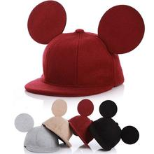 Lovely Children Cartoonmickey mouse ears hat Kids snapback cap