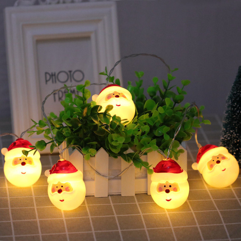 10 LED Christmas String Light Snowman Santa Claus Fairy Light Party Home Decor String Light X-mas Ornament Lighting Strings Neol