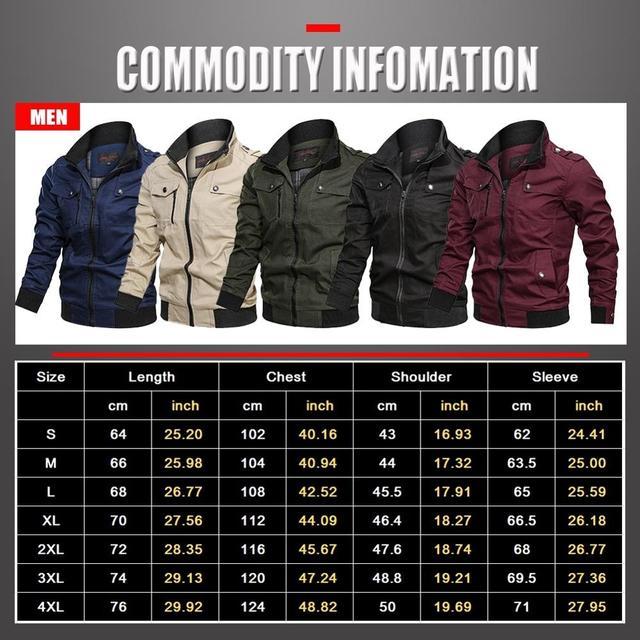 2019 Military Jacket Men Spring Autumn Cotton Windbreaker Pilot Coat Army Men's Bomber Jackets Cargo Flight Jacket Male Clothes 24