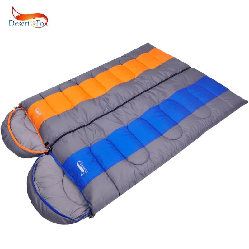 Desert&Fox Large Sleeping Bag For Adults 1pc Winter Type Envelope Warm Sleeping Bags Blanket For Camping Hiking Tourism 220x85cm