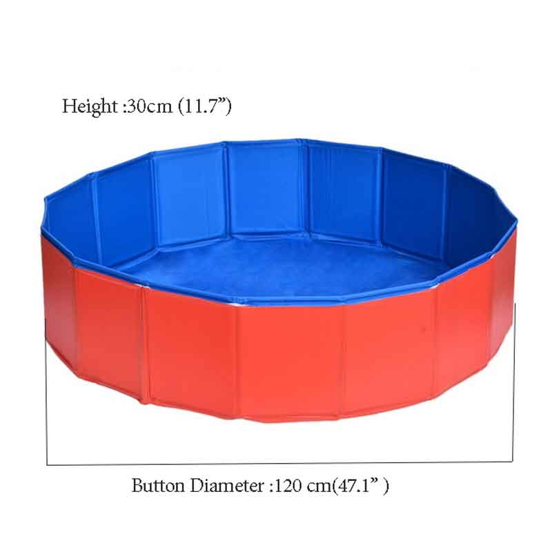Foldable Pool Dog Pet Swimming Pool For Dog Big-Size  Collapsible 4 Seasons Pet Playing Washing Pond For Cat Large Dog Summer E