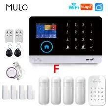 Mulo pg103 wifi sistema de alarme segurança do assaltante teclado tuya vida inteligente app controle kits alarme sem fio