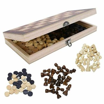 new hot folding chess wooden chess game children gifts crafts multifunctional chess set pieces interesting backgammon board game Traditional Pub Board Dice Game  3 in 1 Folding Chess Set Wooden Chess Game Backgammon Checkers Chessboard Chess Pieces