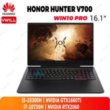 Honor hunter v700 gaming portátil 16.1 polegada inter core i5-10300H/i7-10750H nvidia gtx1660ti/rtx2060 windows 10 pro inglês wifi 6