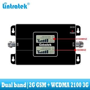 Image 2 - Lintratek GSM 900 WCDMA 2100 Cep sinyal güçlendirici çift bant 2G 3G tekrarlayıcı cep cep telefonu iletişim 2100MHZ amplifikatör