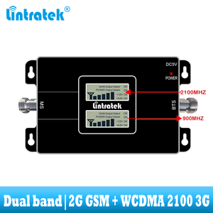 Image 2 - lintratek GSM 900 WCDMA 2100 Cellular signal booster dual band 2G 3G repeater mobile Cell phone communication 2100MHZ amplifier