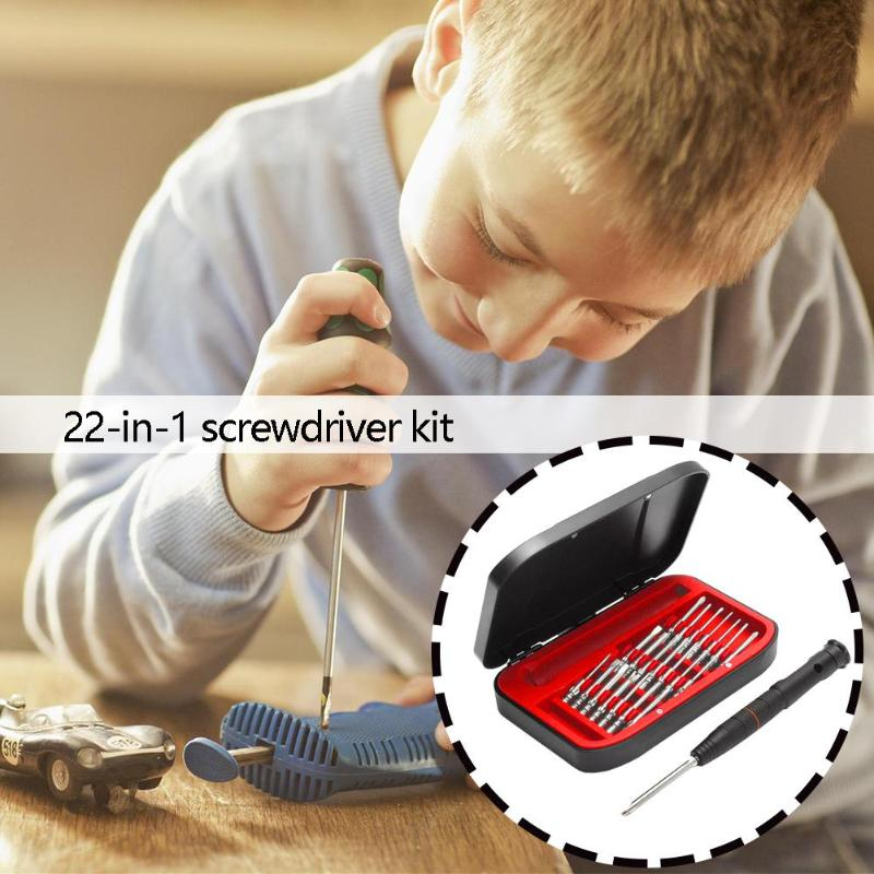 22 in 1 Screwdriver Repair Tool Kit S2 Steel Small Micro Precision Mobile Phone Various Specifications Wide Range of Uses|Hand Tool Sets| |  - title=