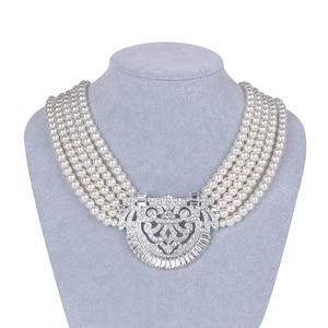 Image 1 - HW naszyjnik z pereł, akcesoria dla druhen ślubnych, akcesoria imprezowe, prezenty urodzinowe dla dziewczyn