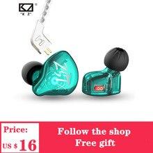 2020 KZ לZST X 1BA + 1DD היברידי יחידת אוזניות HIFI בס ספורט DJ Earbud אוזניות עם כסף מצופה כבל אוזניות KZ ZSTX ZSN
