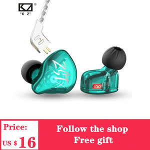 Image 1 - 2020 KZ ZST X 1BA+1DD Hybrid Unit Headphones HIFI Bass Sports DJ Earbud Headset With Silver plated Cable Earphones KZ ZSTX ZSN