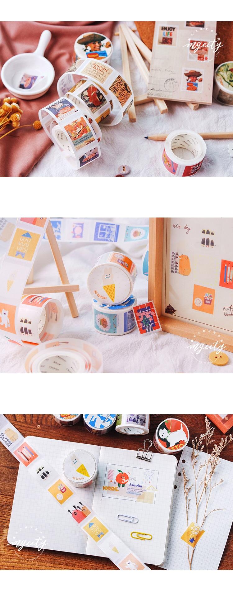 adesiva mini selo adesivo série washi fita fita adesiva adesivos