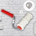 DIY шаблон краски ролик полиуретановый инструмент Защита окружающей среды штамп ролик декоративная, цилиндрическая имитация камня для боли ...