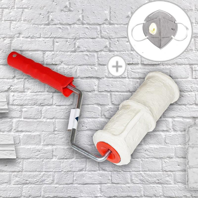 DIY Muster Farbroller Polyurethan Werkzeug Umweltschutz Stempel Roller Dekorative Zylinder Imitieren Stein für Wand Schmerzen