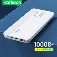 VOTHOON-banco de energía de 20W, cargador de batería portátil de 10000mAh, tipo C, USB, cargador rápido externo para iPhone y Samsung