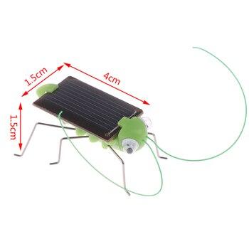 1PCS Educational Solar Powered Grasshopper Robot Toy Solar grasshopper No batteries Solar Toys Gadget Gift For Kids 1
