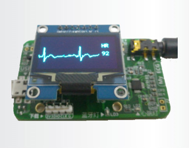 AD8232 <font><b>ECG</b></font> Heart Rate HRV Acquisition Development Board Bluetooth 4.0 Acquisition Monitoring Monitoring <font><b>Sensor</b></font> Module image