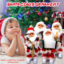 Christmas Ornaments Decoration Singing And Moving Santa Music Christmas Toys Decoration Ornaments