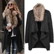 Fur long Cardigan Long Sleeve Sweaters NA01