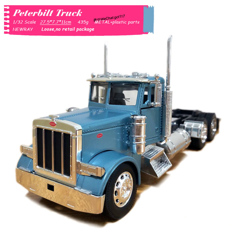 NEWRAY 1/32 Scale Truck Model Peterbilt 389 Wilco Truck Diecast Metal Car Model Toy For Gift,Kids,Collection