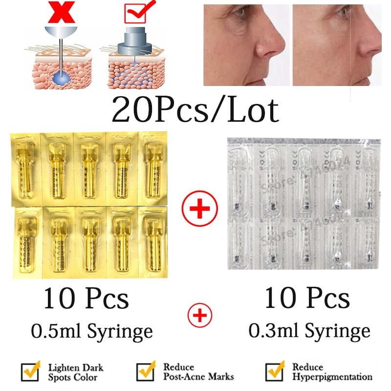 0.3ML Disposable Sterile Syringe Hyaluron Pen Lip Filler Lifting Ampoule Head for Hyaluronic Acid Gun Atomizer Anti-wrinkle