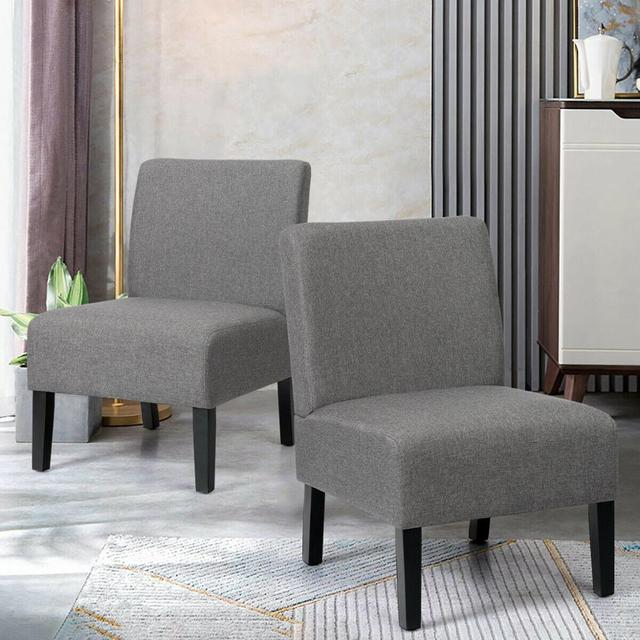 Set of 2 Armless Accent Chair  4