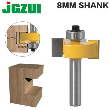 1pc 8mm Shank T-Sloting Router Bit Bit With Bearing Wood Slot Milling Cutter T Type Rabbeting Woodwork Tool For Wood