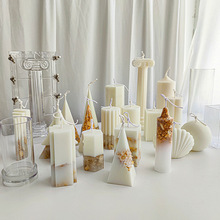 Candle DIY Mold Columnar Acrylic Ice-Flower Fragrant Soybean Pc-Material Embossed Atmosphere