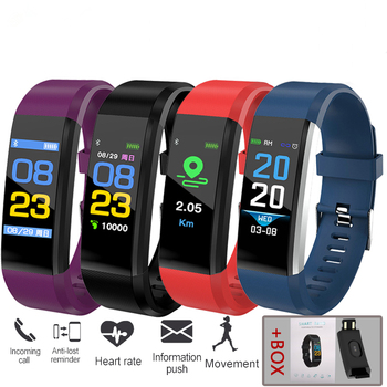 Color Touch Bracelet Heart Rate Blood Pressure Smart Band Fitness Tracker Smartband Bluetooth Wristband for fitbits Smart Watch
