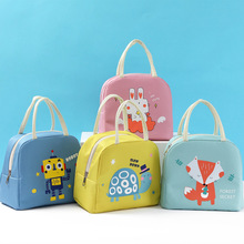Girl Cartoon Animals Lunch Bag Women Kid Waterproof Portable Zipper Thermal Oxford Cooler Convenient Lunch Box Tote Food BBQ Bag