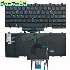 Новая американская Клавиатура для ноутбука Dell Latitude E5450 E7450 E7470 E5470 с подсветкой, указывающей 0D19TR D19TR оригинал