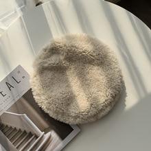 Octagonal Hat Painter-Hat Fashion Lamb Hair Wild Warm Female Japanese Casual Ins