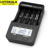 Liitokala Lii-500 Lii-402 Lii-202 Lii-100 Lii-400 18650 carregador carregador de bateria para 26650 21700 18650 18350 14500 AA AAA carregador de bateria