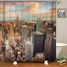 City scenery show shower curtain bath polyester thick waterproof shower curtain natural sea rocks scenery print waterproof shower curtain